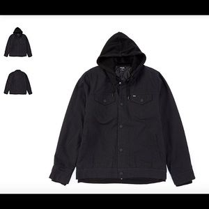 NWT Hurley Black Truck Stop Jacket - L or XL